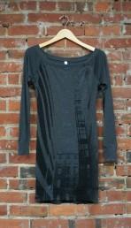 'Escape' on Dark Heather Lightweight Sweater Dress