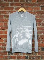'Guardian' on Athletic Heather V-Neck Lightwieght Unisex Sweater
