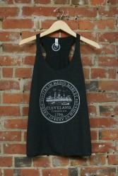 'City Seal' on Charcoal Black TriBlend Racerback Tank