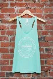 'City Seal' on Mint Racerback Tank