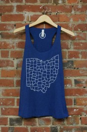 'Counties' on Navy TriBlend Racerback Tank