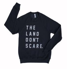 land-dont-scare-dark-grey-crew-sweatshirt