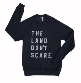 land-dont-scare-dark-grey-crew-sweatshirt