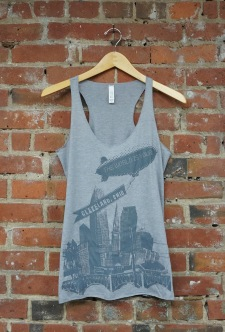 'World Is Yours' on Athletic Grey TriBlend Racerback Tank