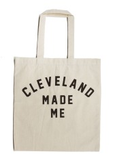 'Cleveland Made Me' on Natural Tote