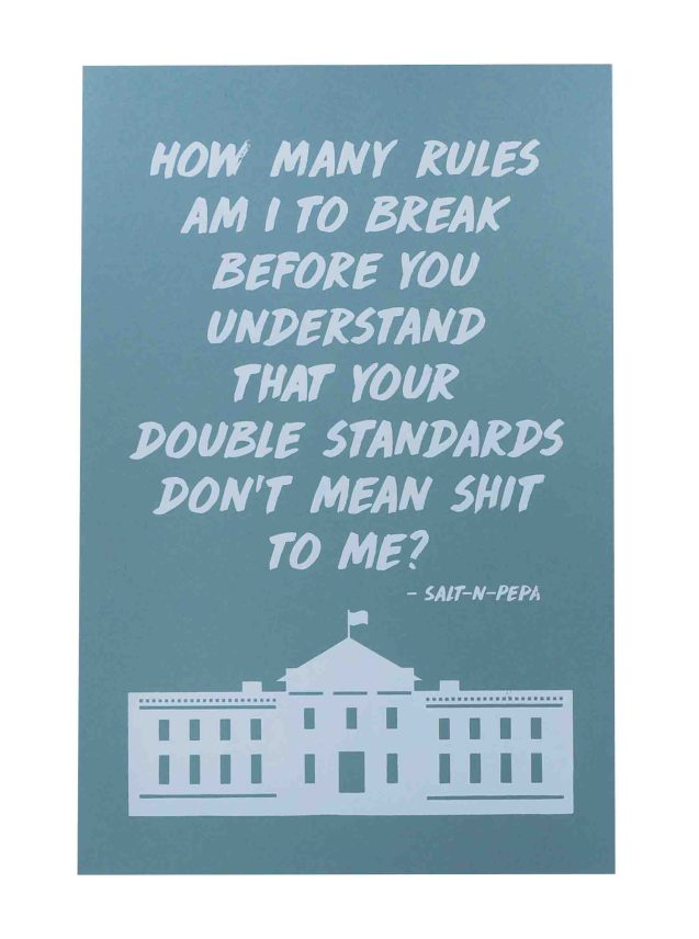 how-many-rules-am-i-to-break-womens-march-poster-on-construction-steel-blue-12-5x19