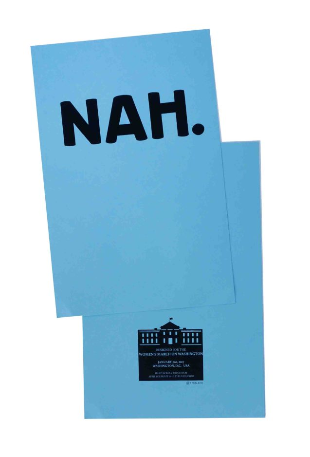 nah-womens-march-poster-on-pop-tone-berrylicious-12-5x19-front-and-back