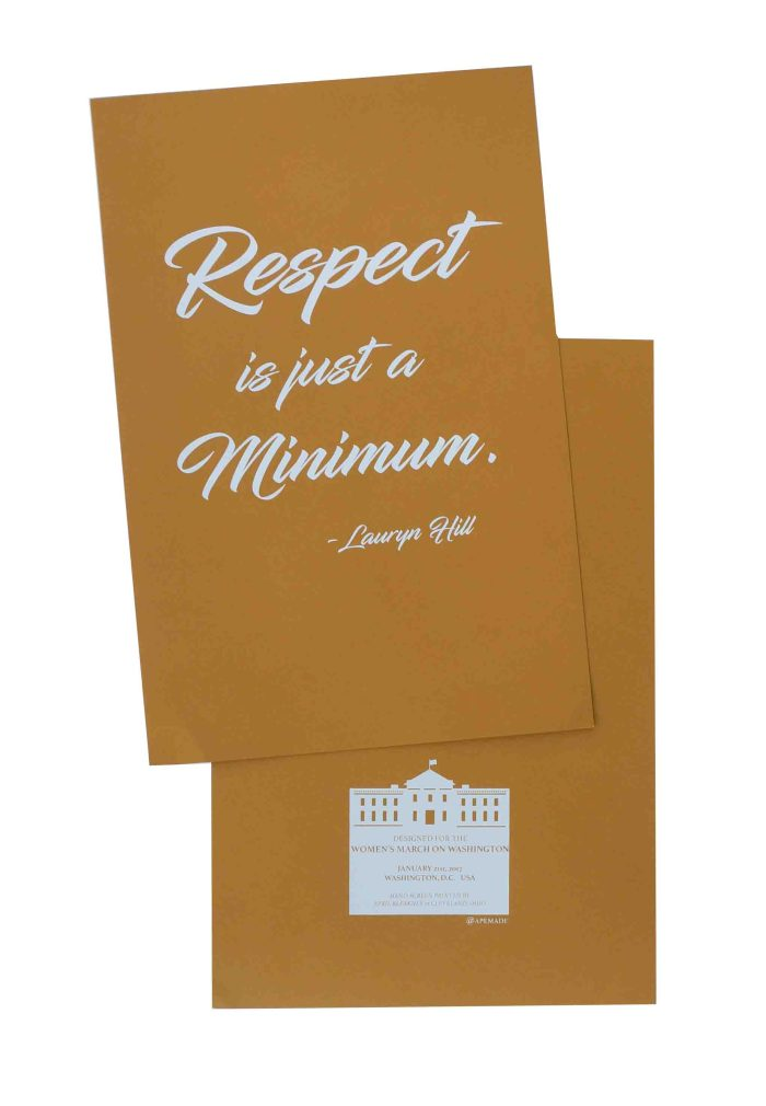 respect-is-just-a-minimum-womens-march-poster-on-construction-safety-orange-12-5x19-front-and-back