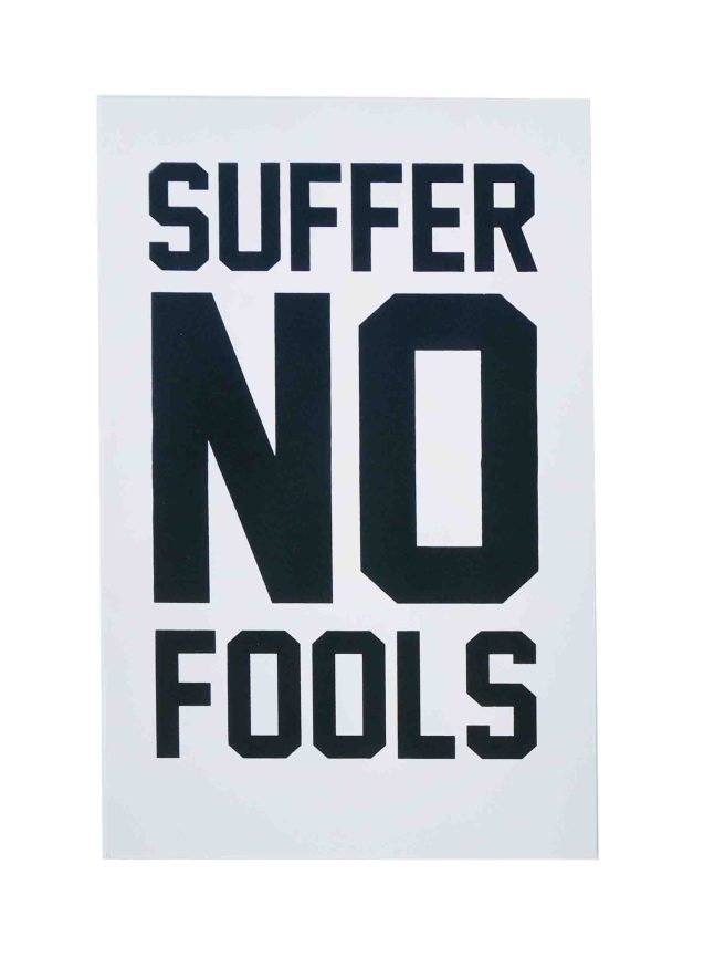 suffer-no-fools-womens-march-poster-on-construction-insulation-pink-12-5x19