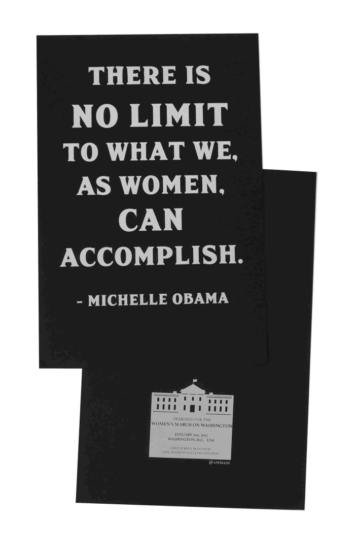 there-is-no-limit-womens-march-poster-on-construction-blacktop-12-5x19-front-and-back