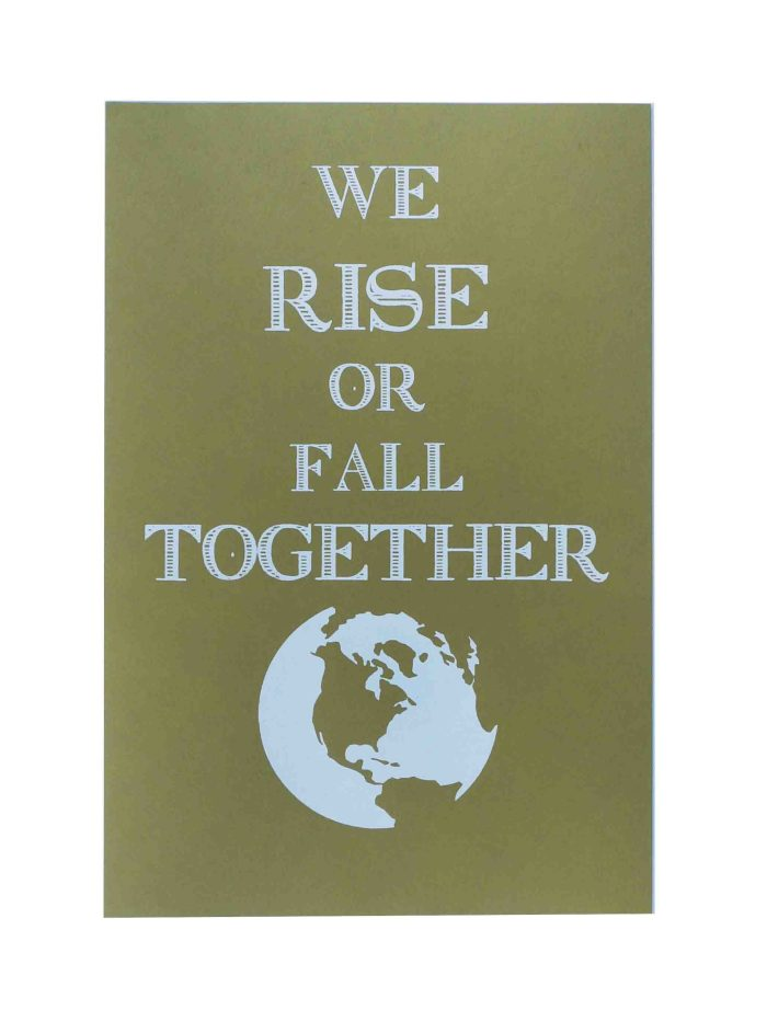 we-rise-or-fall-together-womens-march-poster-on-construction-factory-green-12-5x19