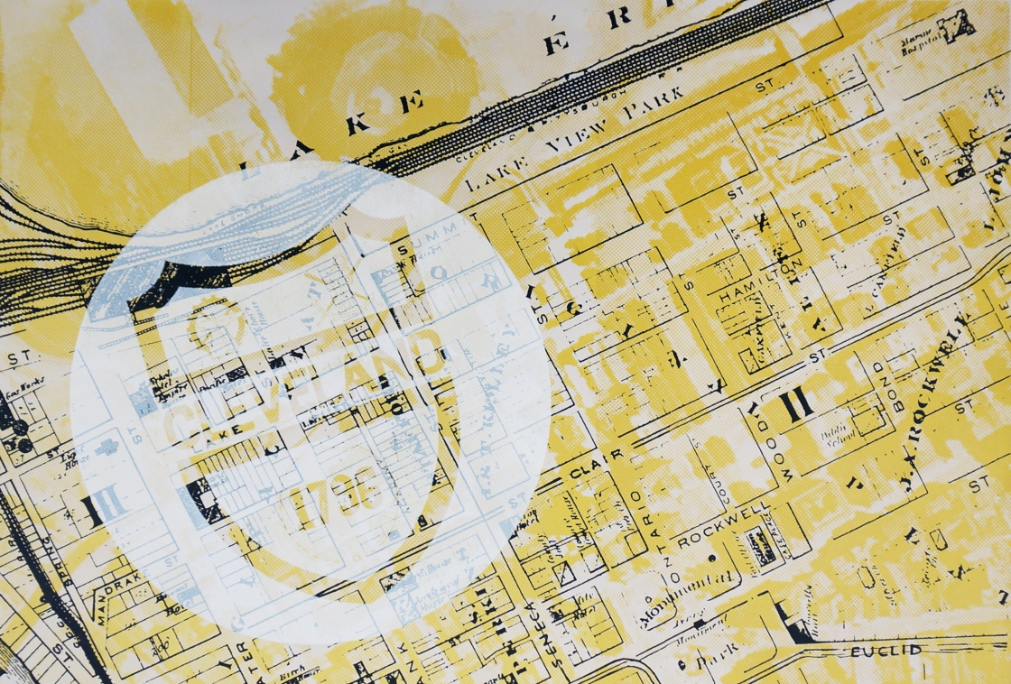 'Hilton Commission (Map), Screen Print, 2016