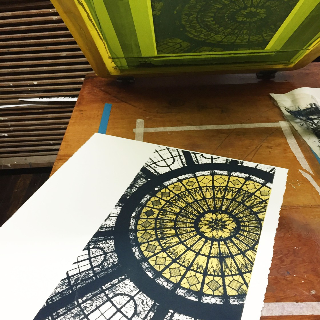 'Hilton Commission (Printing Process 3), Screen Print, 2016