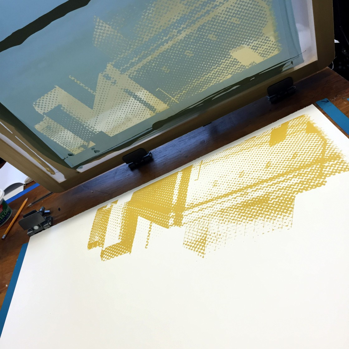 'Hilton Commission (Printing Process), Screen Print, 2016