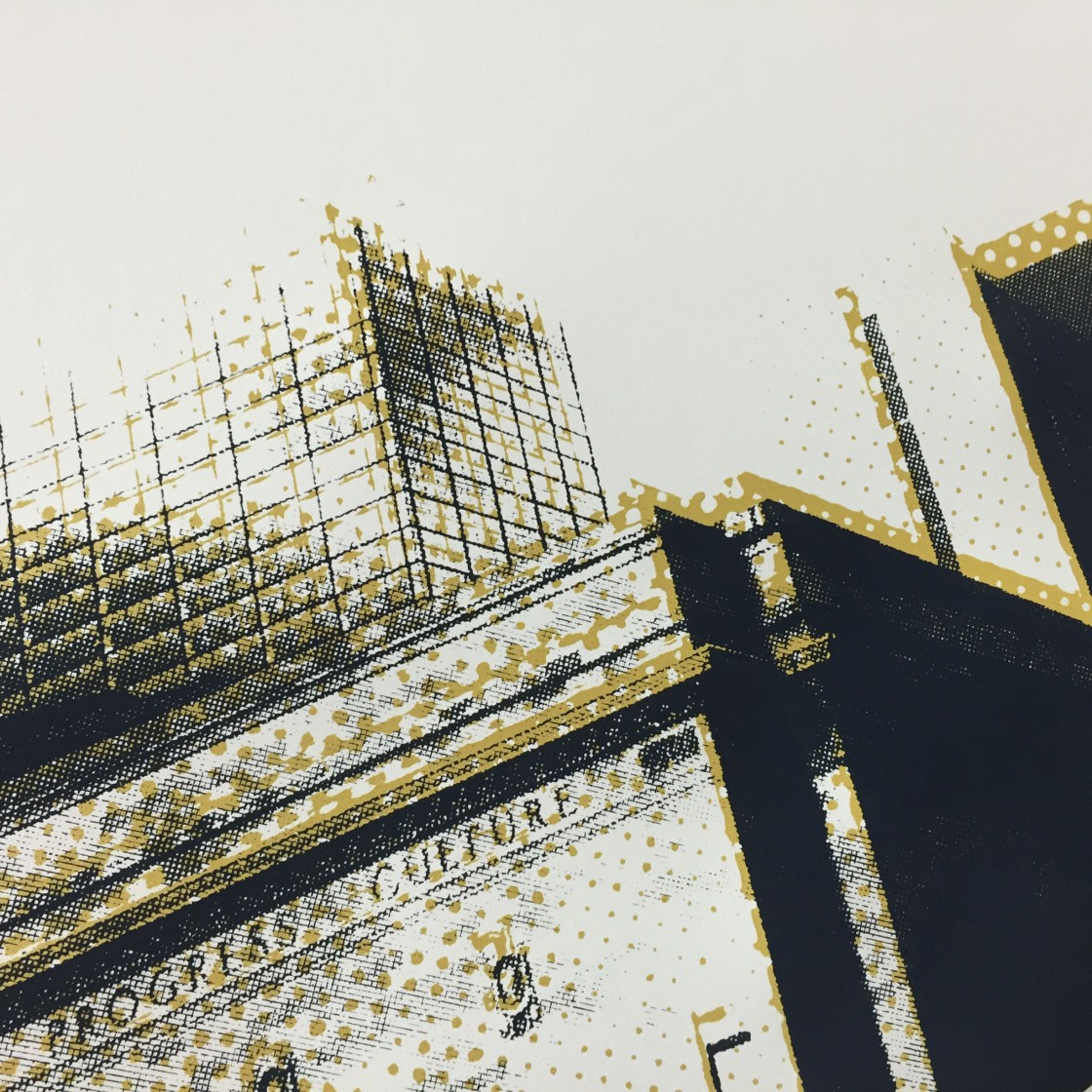 'Hilton Commission (Public Auditorium Detail 2)', Screen Print, 2016