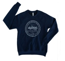 'City Seal' Navy Crew Neck Sweatshirt (2)