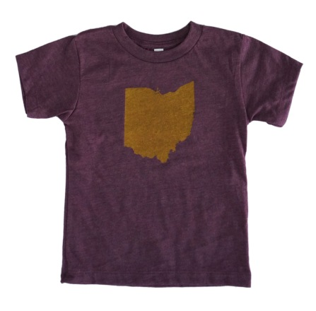 'Ohio' Heather Maroon Toddler Tee