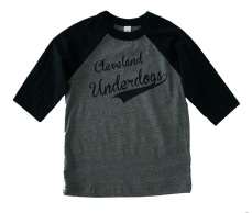 'Underdogs' Gray:Black Toddler Baseball Tee