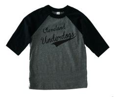 'Underdogs' Gray:Black Toddler Baseball Tee