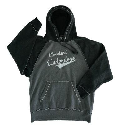 'Underdogs' Gray:Black Vintage 2-Tone Hoodie