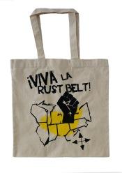 'Viva La Rust Belt' Natural Tote (Yellow Ink)