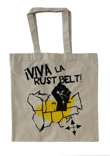 'Viva La Rust Belt' Natural Tote (Yellow Ink)