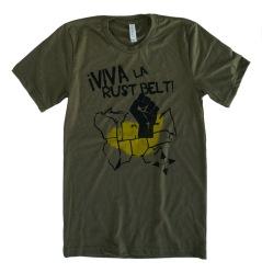 'Viva La Rust Belt' Olive Unisex Tee