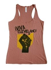'Viva Cleveland' on Mauve Triblend Racerback Tank