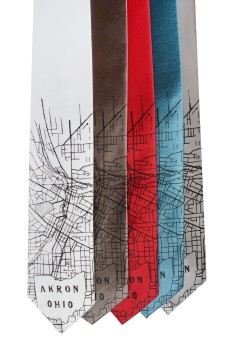 'Akron Map' Standard Neckties (All)