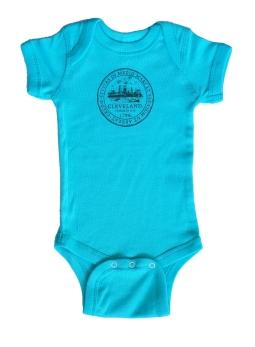 'City Seal' on Caribbean Blue Baby Onesie