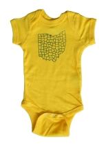 'Counties' Yellow Baby Onesie