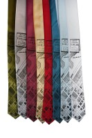 'Downtown Map' Skinny Neckties (All)