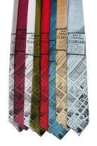 'Downtown Map' Standard Neckties (All) 2