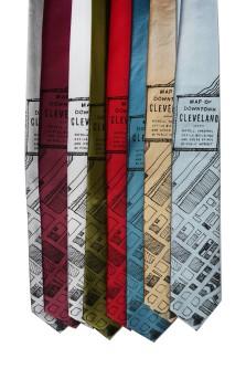 'Downtown Map' Standard Neckties (All)