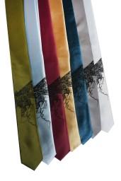'Halftone Lake' Skinny Neckties (All) 2