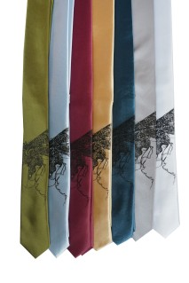 'Halftone Lake' Skinny Neckties (All)