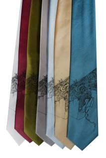 'Halftone Lake' Standard Neckties (All) 2