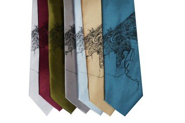 'Halftone Lake' Standard Neckties (All)