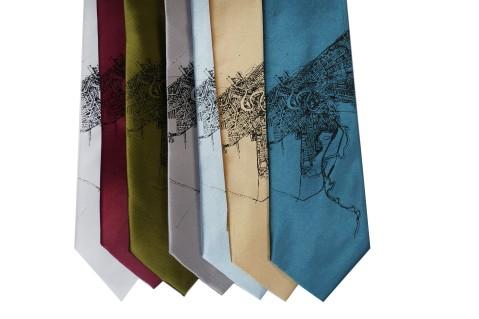 'Halftone Lake' Standard Neckties (All)