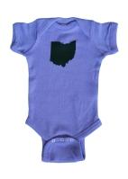 'Ohio State' Lavender Baby Onesie