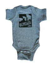 'Smokestacks' on Granite Heather Baby Onesie