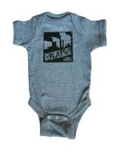 'Smokestacks' on Granite Heather Baby Onesie