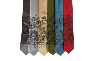 'Toledo Map' Skinny Neckties (All)