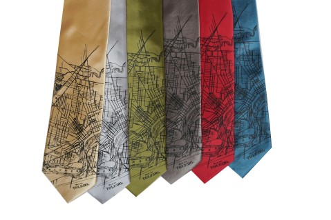 'Toledo Map' Standard Neckties (All)