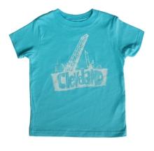 'Bridges' on Caribbean Blue Toddler Tee
