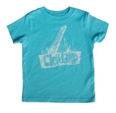 'Bridges' on Caribbean Blue Toddler Tee