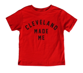 'Cleveland Made Me' on Red Toddler Tee