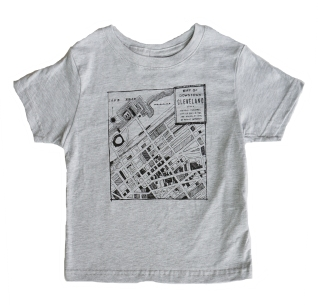 'Downtown Map' on Heather Gray Toddler Tee