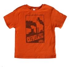 'Smokestacks' on Orange Toddler Tees