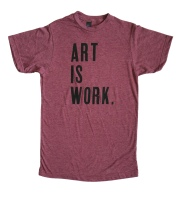 'Art Is Work' Heather Burgundy Unisex Tee